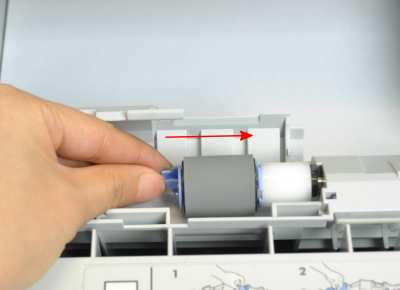 Install the separation roller