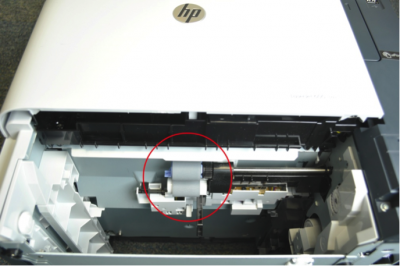 Locate two rollers in the cavity